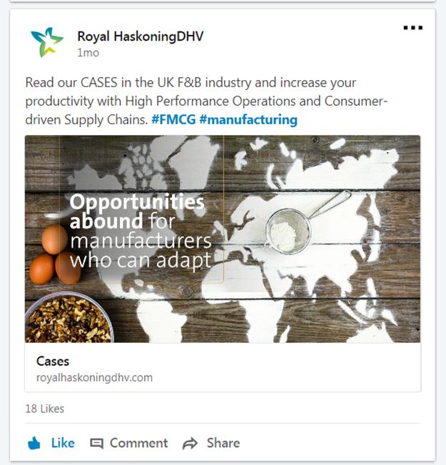Social Media Campaign (b2b) for Royal HaskoningDHV