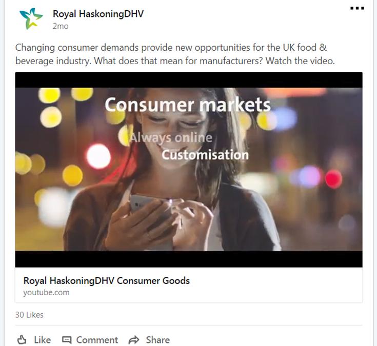 Consumer Goods movie/trailer Royal HaskoningDHV